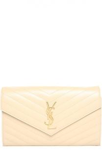 Сумка Monogram Envelope из стеганой кожи Saint Laurent