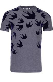 Хлопковая футболка с принтом MCQ