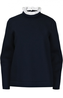 Хлопковый свитшот с контрастным высоким воротником Mother Of Pearl