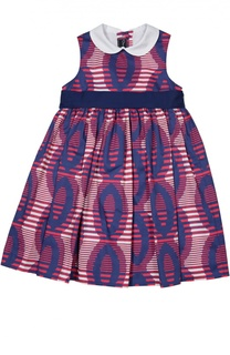 Платье с поясом Oscar de la Renta