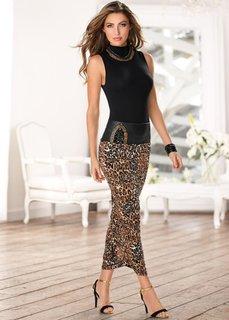 Юбка (коричневый леопардовый/разные ) Bonprix