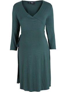 Платье с эффектом запаха для беременных (черный) Bonprix