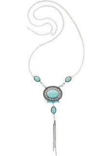 Длинная цепочка в богемском стиле (античный серебристый/бирюзовый) Bonprix