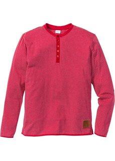 Полосатая футболка Regular Fit с длинным рукавом (темно-синий в полоску) Bonprix