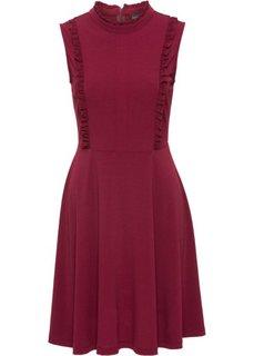 Трикотажное платье с оборками (темно-синий) Bonprix