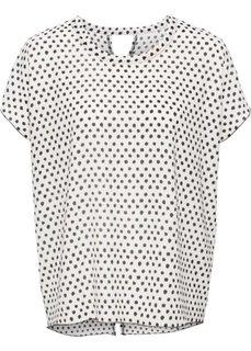 Блузка в горошек с коротким рукавом (темно-синий/белый в горошек) Bonprix