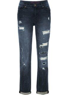 Потертые джинсы бойфренды (черный деним) Bonprix