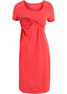Мода для беременных: базовое платье с функцией кормления (черный) Bonprix