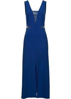 Длинное трикотажное платье с аппликациями (коралловый) Bonprix