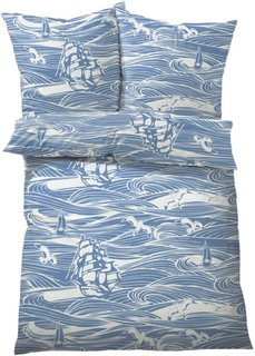 Постельное белье Морское, линон (синий) Bonprix