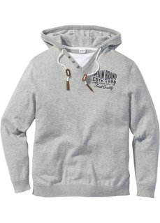 Пуловер Regular Fit с капюшоном (синий) Bonprix