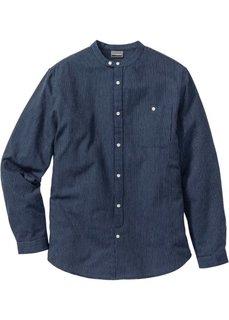 Рубашка Slim Fit с длинным рукавом (нежно-голубой) Bonprix