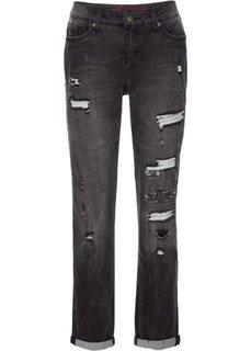 Потертые джинсы бойфренды (темный деним) Bonprix