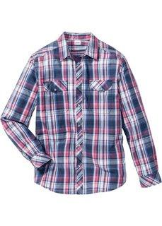 e96d3753220 Рубашка Regular Fit с длинным рукавом (красный в клетку) Bonprix
