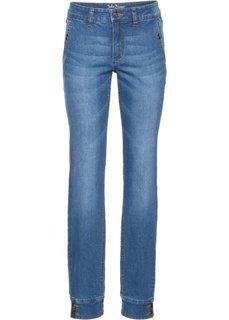 Прямые стрейтчевые джинсы, cредний рост (N) (голубой) Bonprix