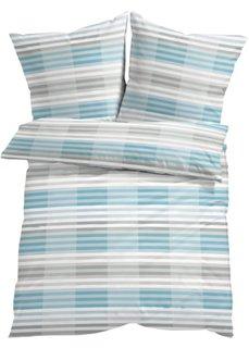 Постельное белье Ноа, линон (серый/синий) Bonprix