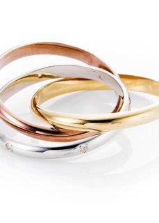 Кольцо (золотистый/серебристый) Bonprix