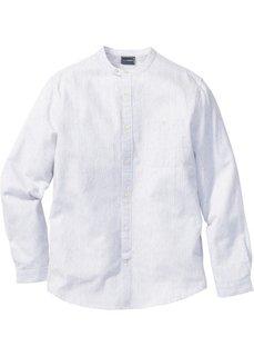 Рубашка Slim Fit с длинным рукавом (темно-синий) Bonprix