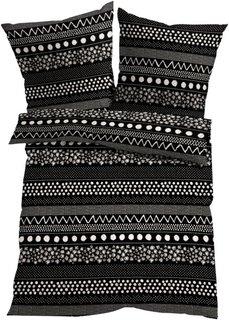 Постельное белье Этно, линон (черный) Bonprix