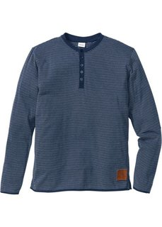 Полосатая футболка Regular Fit с длинным рукавом (красный в полоску) Bonprix