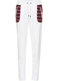 Трикотажные брюки с накладными карманами (анатрацитовый/кленово-красный ) Bonprix