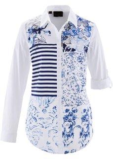 Блузка с принтом пэчворк (кленово-красный/ярко-розовый г) Bonprix