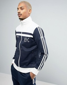 Синяя винтажная спортивная куртка adidas Originals 83-C BK5313 - Синий