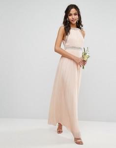 Декорированное платье макси TFNC WEDDING - Розовый