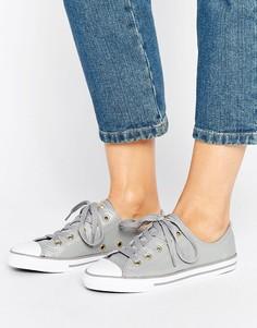 Серебристые кроссовки с золотистыми люверсами Converse Chuck Taylor Dainty - Мульти
