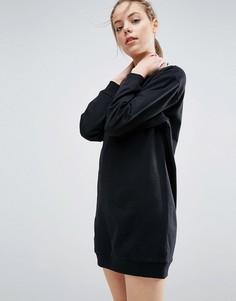Платье-свитшот в стиле oversize ASOS Ultimate - Черный