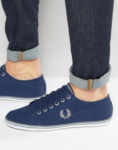 Синие саржевые кроссовки Fred Perry Kingston - Синий