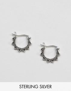 12-миллиметровые серебряные серьги‑кольца ASOS - Серебряный