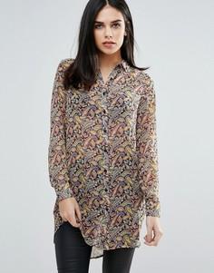 Длинная рубашка с принтом пейсли Unique 21 - Мульти