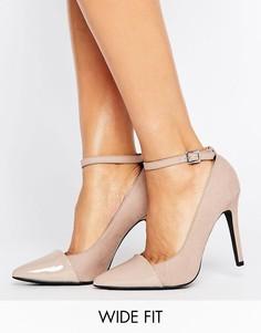 Туфли на каблуке из искусственной замши с ремешком New Look - Бежевый