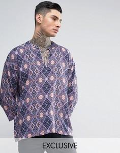 Рубашка классического кроя в стиле 70-х Reclaimed Vintage Inspired - Фиолетовый