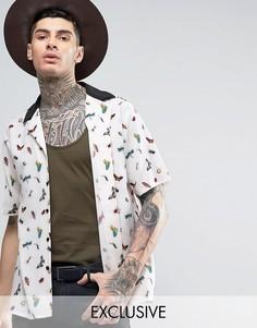Рубашка классического кроя с отложным воротником Reclaimed Vintage Inspired - Белый