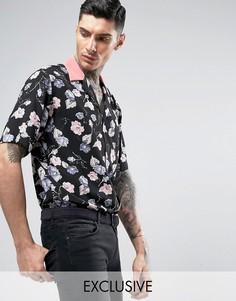 Рубашка классического кроя с отложным воротником Reclaimed Vintage Inspired - Черный