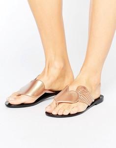 Золотистые сандалии с перламутровым эффектом Vivienne Westwood For Melissa - Черный