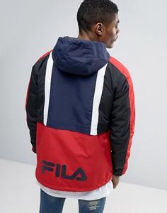 Куртка с капюшоном и логотипом сзади Fila - Темно-синий