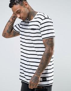 Длинная футболка в полоску с белым карманом Levis Line 8 - Белый