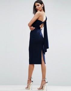 Платье миди с завязкой на спине ASOS - Темно-синий