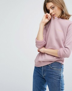 Свитшот с вышивкой Amour Maison Labiche - Розовый