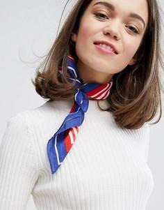 Легкий шарф на шею в полоску Monki - Мульти