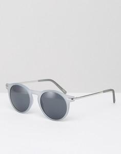 Солнцезащитные очки с металлическими дужками Monki - Синий