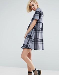 Свободное платье в клетку ASOS Ultimate - Мульти