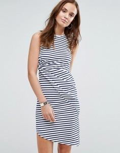 Полосатое платье Wal G - Темно-синий