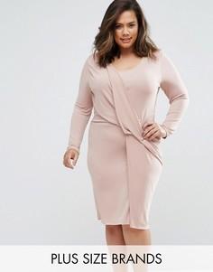 Платье с перекрученным дизайном Elvi Plus - Розовый