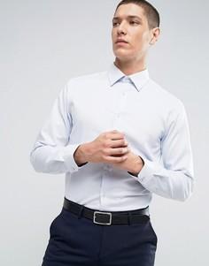 Строгая узкая рубашка из фактурной ткани Burton Menswear - Белый