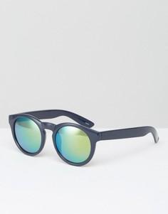 Солнцезащитные очки с синими затемненными стеклами Monki - Черный