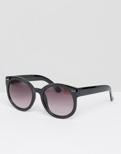 Большие круглые солнцезащитные очки Monki - Черный